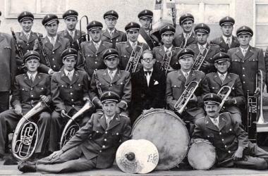Gruppenfoto 1951 mit Kpm Bollinger Otto