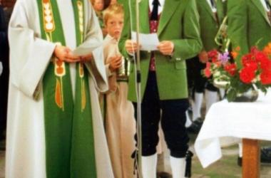 Trachteneinweihung Festmesse 1975