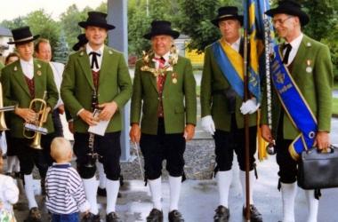 Empfang in Gaissau nach Konzertwettbewerb - 1 Rang mit  Auszeichnung 1991
