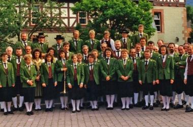 Gruppenfoto Schuetzenfest Wanfried in Hessen 1990