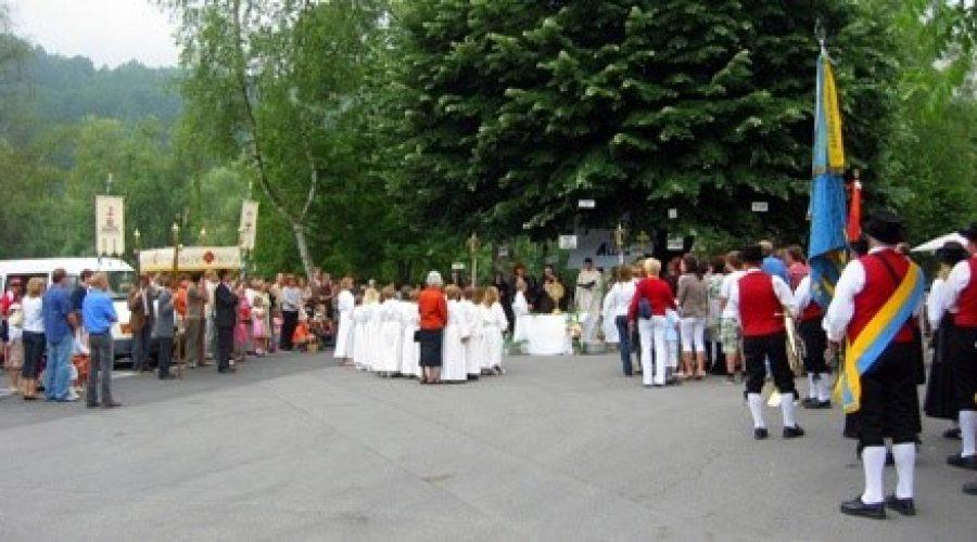 Fronleichnam – Begleitung Prozession